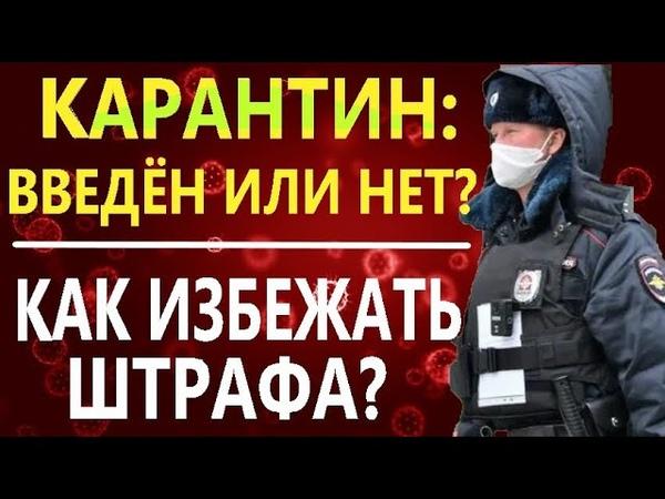 КАК ИЗБЕЖАТЬ ШТРАФА за нарушение карантина? КАК ГОВОРИТЬ С ПОЛИЦИЕЙ - какие объяснения дать полиции?
