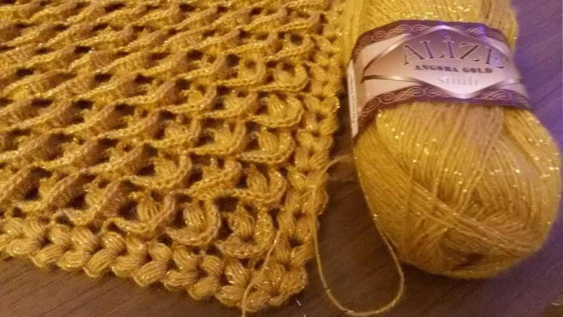 МК Образец узора для объемной шали бактуса платка sample pattern for the bulk shawls Bacchus