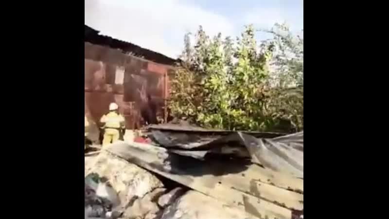 Сгорел склад полиматериалов в Батайске 14 10 2020