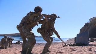 Совместные действия боевых пловцов и спецназа ТОФ по захвату побережья