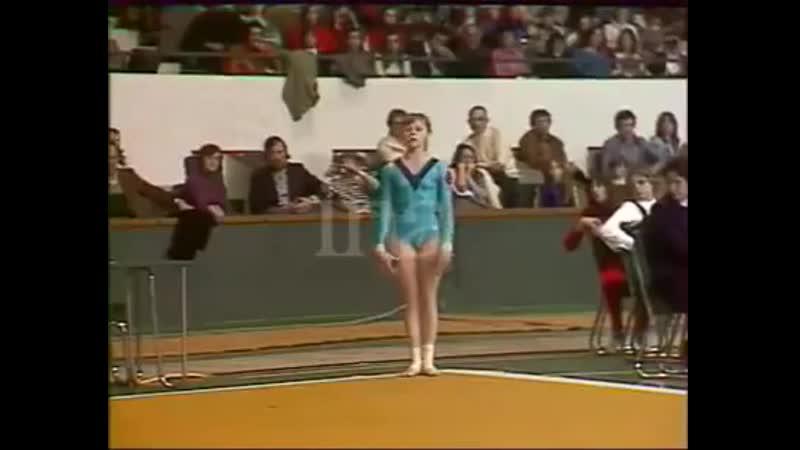 Elena Mukhina 1977 Paris Grand Pri