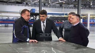 Грани будущего. Глава округа Максим Пекарский посетил завод по производству керамического гранита