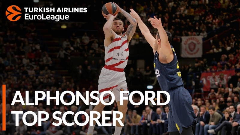 2018 19 Turkish Airlines EuroLeague Alphonso Ford Top Scorer Mike James AX Armani Exchange