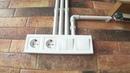 Пример укладки внешней проводки в водопроводные трубы Ремонт квартир в Одессе / Стиль Loft