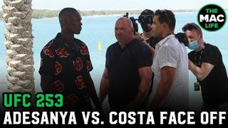 Israel Adesanya vs. Paulo Costa Face Off On The Beach