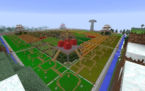 рабочая площадь фермы майнкрафт #11