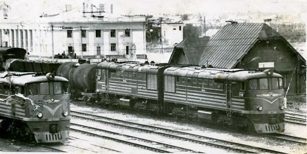 Фото конца 1960-ых годов, на станции Коноша