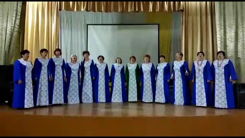Русский Народный хор «Ивушка», песня Журавли, . с. Рощино