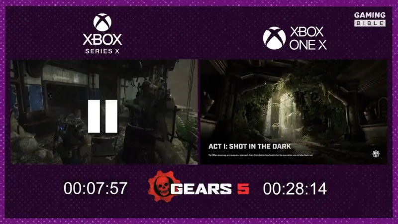 Gears 5 load times comparsion