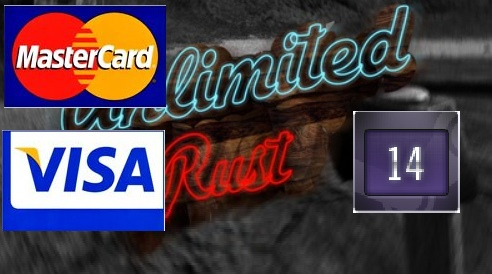 Rust UNLIMITED account 14 Year Badge 8LVL (BANK CARD PAYMENT)