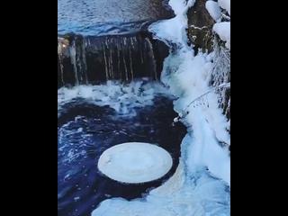 Ледяной диск в Калининградской области