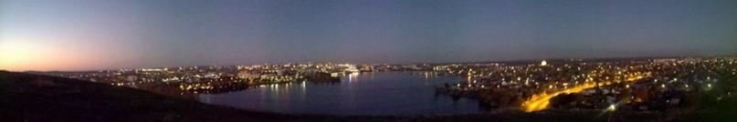 Вечерний вид с Лисьей горы