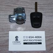 Сердцевина водительской двери с ключом. OPEL HU 100