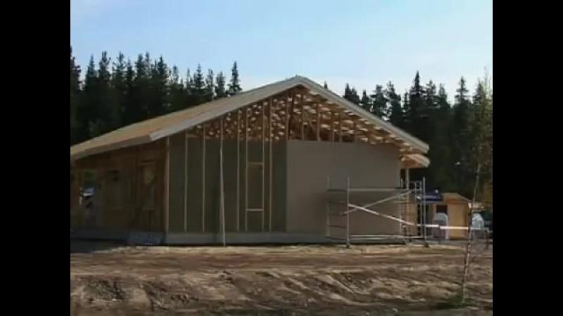 Финны строят каркасный дом