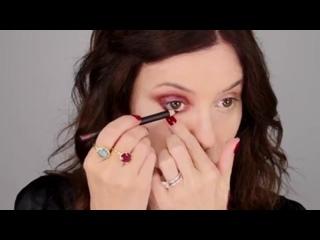 Роскошный бордовый и ягодный макияж в натуральных цветах