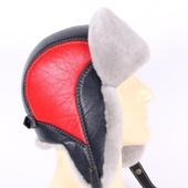 Мужская шапка Авиатор из овчины. Арт. VS-15