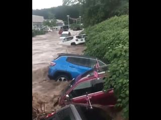 Мощный ливневый паводок в Нью-Джерси, США - 11 августа 2018
