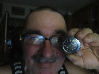 мои наручные мужские часы Амфибия Восток 2416Б Мужик в пузыре