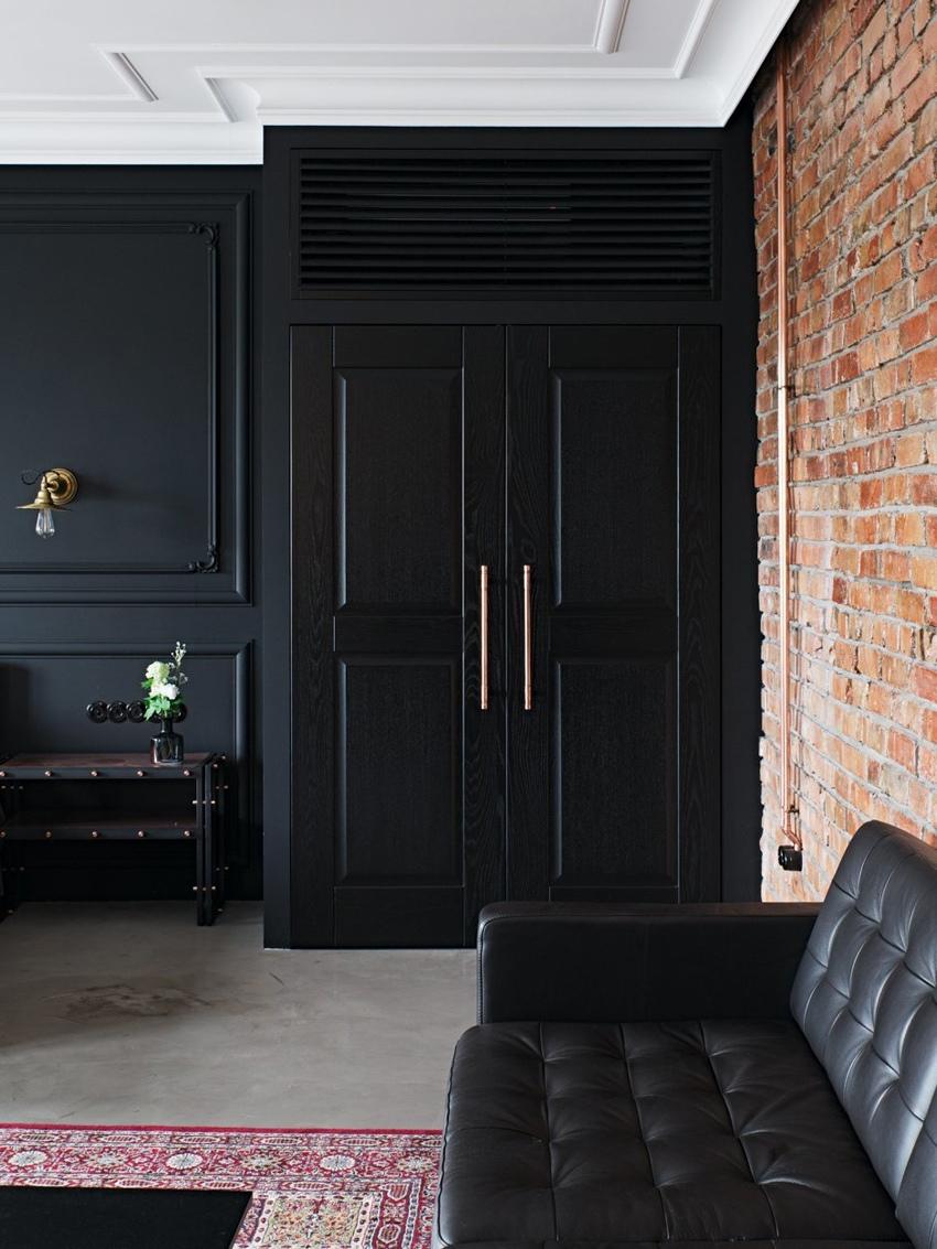 Квартира-студия 46 м в промышленном стиле в Санкт-Петербурге.