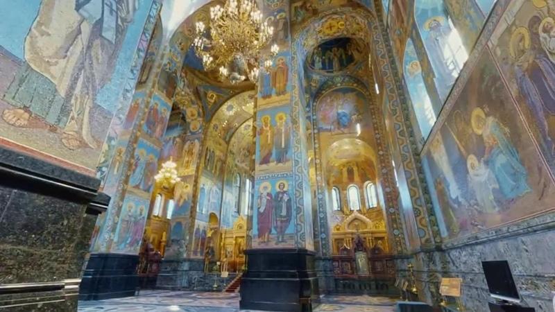 Виртуальная прогулка по Храму Воскресения Христова Спас на крови mp4