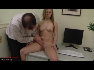 Madison Chandler [ In the office &  Group / With the plot , Shaved , Linen , Body piercing , Pussy , Cunnilingus]