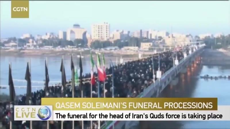 Тело Касема Сулеймани доставили в приграничный иранский город Ахваз 5 января 2020