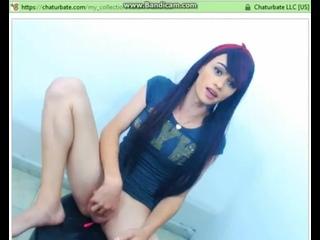 Худая 18-летняя школьница дрочит свой хуй в секс чате -(транс shemale porn sex секс порно webcam teen трап ледибой tranny tgirl)