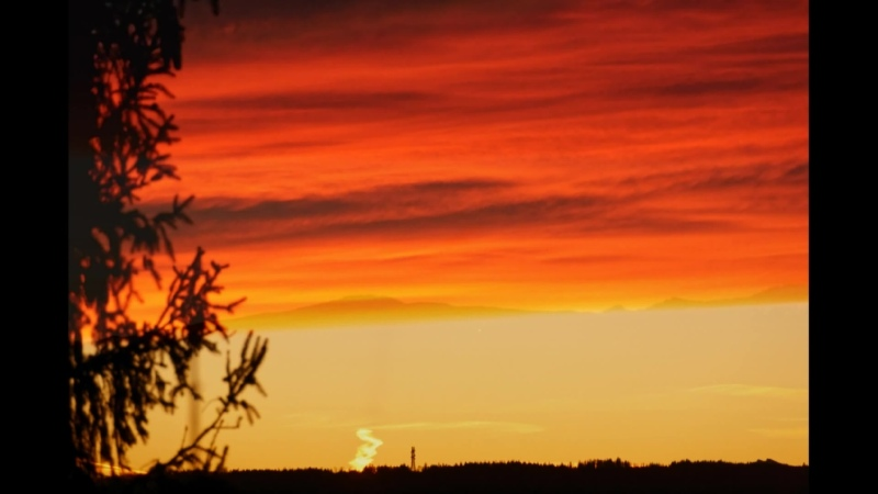Blick aus dem Fenster Morgengrauen im Allgäu 25.02.2020