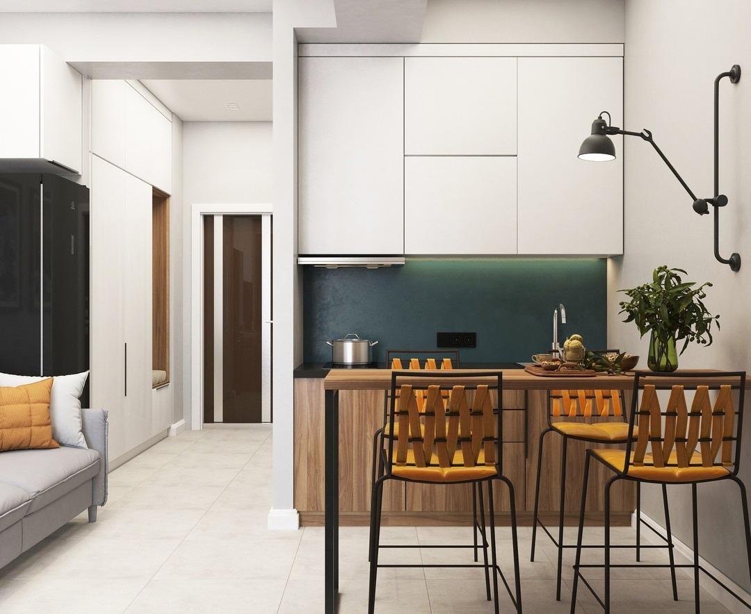Дизайн-проект квартиры-студии.