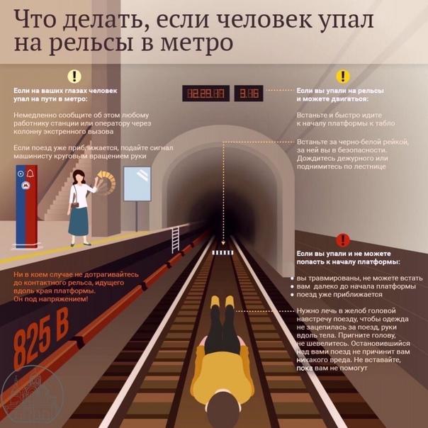 ❗️ВАЖНОЧто делать при падении на рельсы в метро....