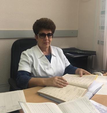 Зинченко Татьяна Александровна – врач статистик, стаж работы 37 лет.