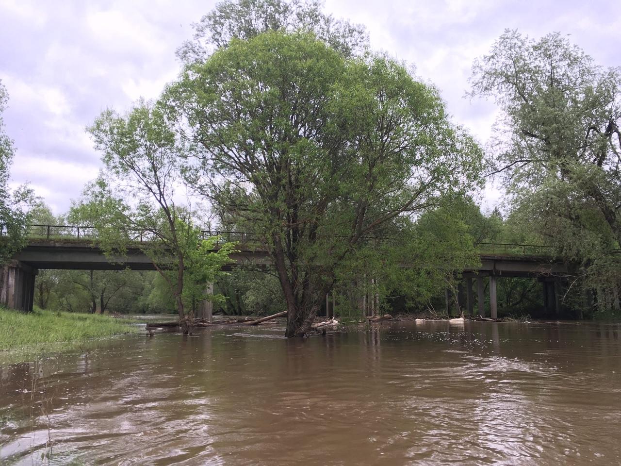 место киля под мостом