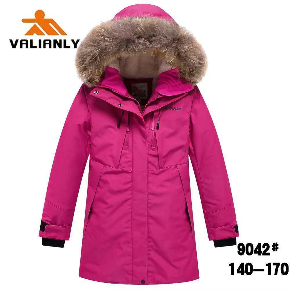 Зимняя парка Valianly 9042 розовая