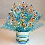 Конфетный букет в цветочном горшке