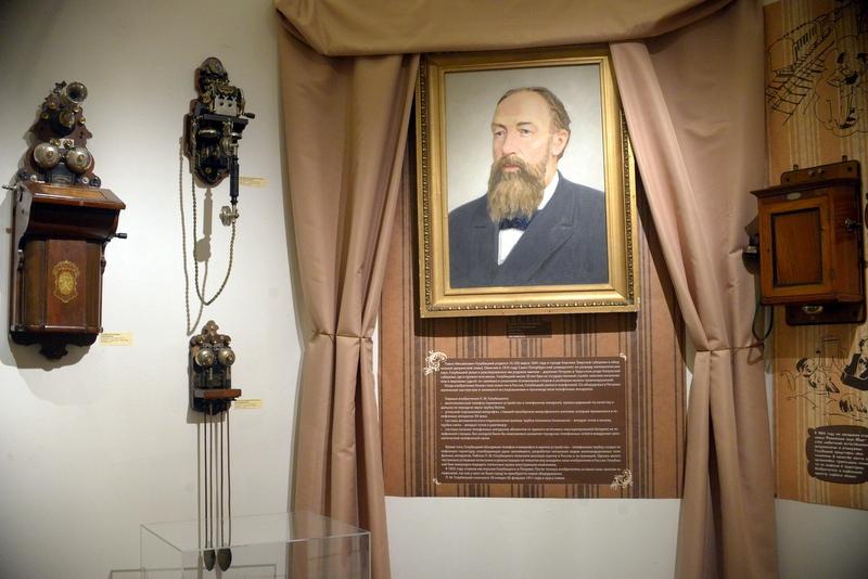 Раздел выставки, посвященный П.М.Голубицкому