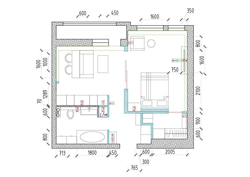Интерьер квартиры 43 кв.