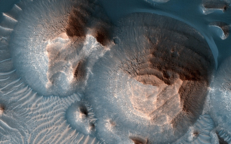 На Марсе обнаружены следы более тысячи суперизвержений вулканов