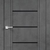 Дверное полотно NEXT 1 Муар темно-серый