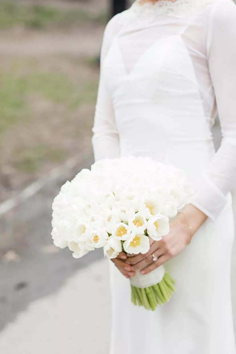 Txsk7Rm0ehY - Букет невесты из тюльпанов