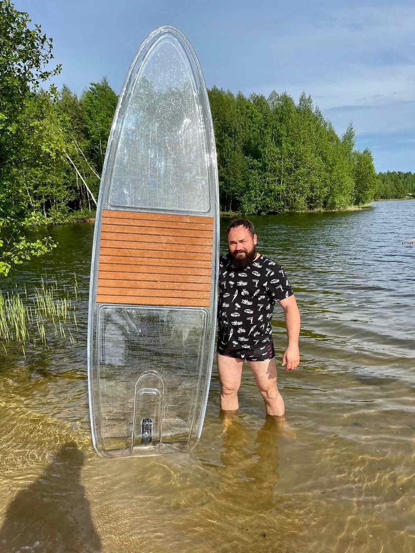 Прозрачный sup board
