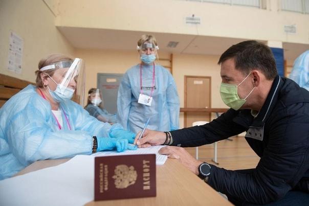 Евгений Куйвашев проголосовал на выборах депутатов...