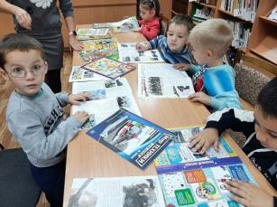 Сотрудница Рузской городской библиотеки в рамках клуба «Библиодружба»провела урок «Осень в гости к нам