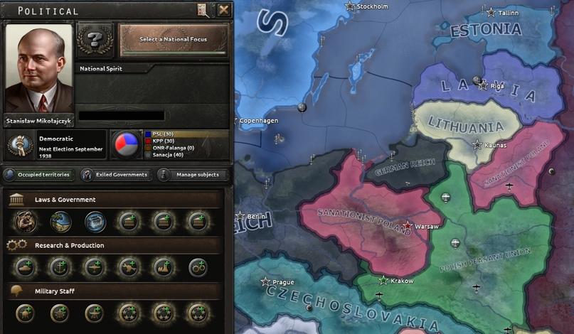 Дневник разработчиков Hearts of Iron IV — Изменение древа фокусов Польши, часть 2, изображение №6