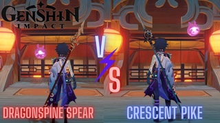 Genshin Impact: Xiao Physical Damage Dragonspine Spear Vs Crescent Pike!