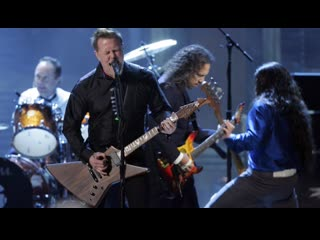 Metallica led zeppelin rolling stones aerosmith red hot chilli peppers train kept a rollin rock n roll hall of fame