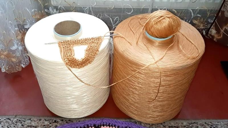 Поделюсь пряжей для вязания мочалок Купила Дарничанку