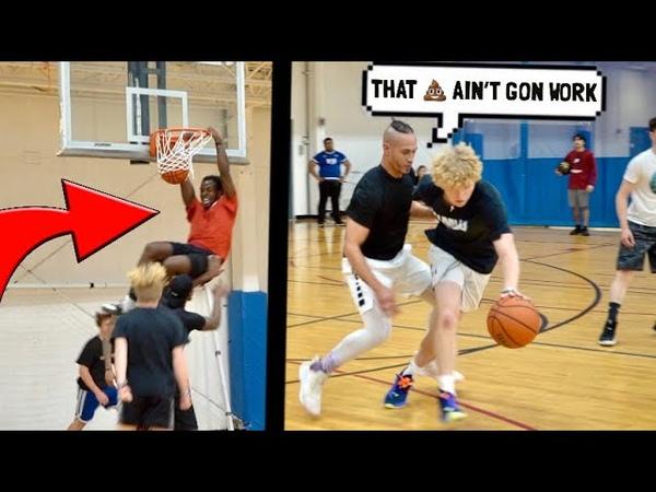 Trash Talker Fouls HARD Gets EXPOSED! 5v5 Basketball!