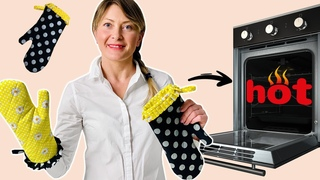 Guantes de cocinar   Cómo Coser Manoplas de Horno Para No Quemarse   DIY Oven Mitts