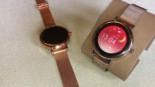 Смарт часы фитнес браслет, умные часы женские KingWear LW06, смарт часы женские с давлением,