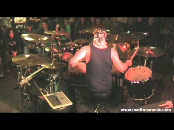 Martin 'Marthus' Skaroupka Her Ghost In The Fog Pearl Sabian drum clinic 2011